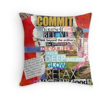 Commitment Collage 2 Throw Pillow