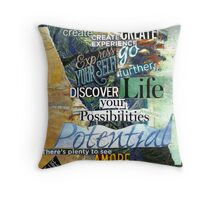 Purity  Collage 3 Throw Pillow