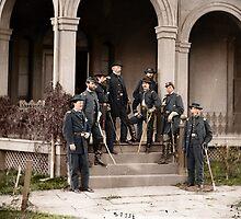 General Edwin Vose Sumner & Staff by Mads Madsen