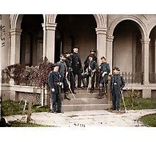 General Edwin Vose Sumner & Staff Photographic Print