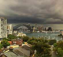 Harbour Bridge Storm by archieswell