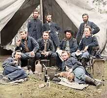 Staff of General Andrew Porter & George A. Custer by Mads Madsen