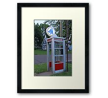 Small Town Wisconsin Framed Print