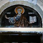 St Matthew tympanum over doorway Duomo Salerno 198403200009 by Fred Mitchell