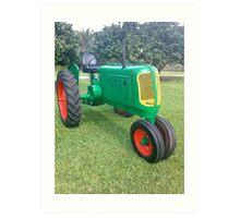 Antique Farm Tractor Art Print