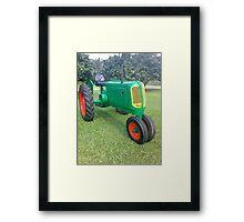 Antique Farm Tractor Framed Print