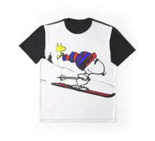 Snoopy and Snow Graphic T-Shirt