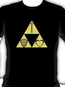 Power. Wisdom. Courage. The Sword. The Shield. The Heart. T-Shirt