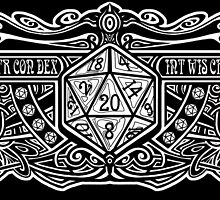 Dark Dice Deco D20 Sticker! by Razvan-Sedekiah