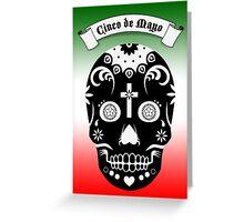 cinco de mayo sugar skull Greeting Card