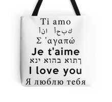 I Love You - Multiple Languages 2 Tote Bag