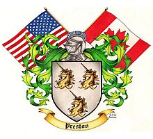 Preston Family Crest Photographic Print