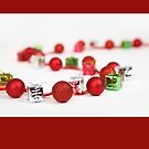 Christmas card with bell garland by Cheryl Hall
