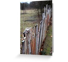 Fence - Hill End Greeting Card
