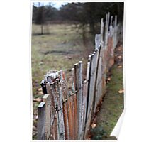 Fence - Hill End Poster