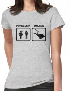 PROBLEM SOLVED WIFE SHOUTING AT DIVER Womens Fitted T-Shirt
