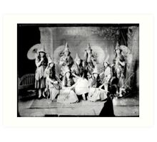Concert girls photograph - glass negative Art Print