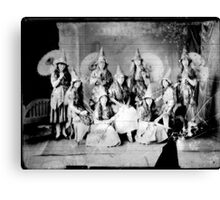 Concert girls photograph - glass negative Canvas Print