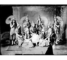 Concert girls photograph - glass negative Photographic Print