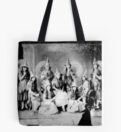 Concert girls photograph - glass negative Tote Bag