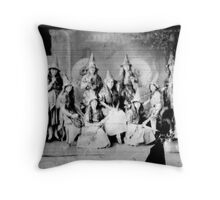 Concert girls photograph - glass negative Throw Pillow
