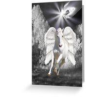 Ƹ̴Ӂ̴ƷANGELIC HORSE PICTURE/CARDƸ̴Ӂ̴Ʒ Greeting Card