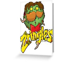 The zombie Zringles Guy Greeting Card