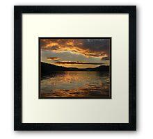 Golden sunset at Ku-ring-gai waters Framed Print