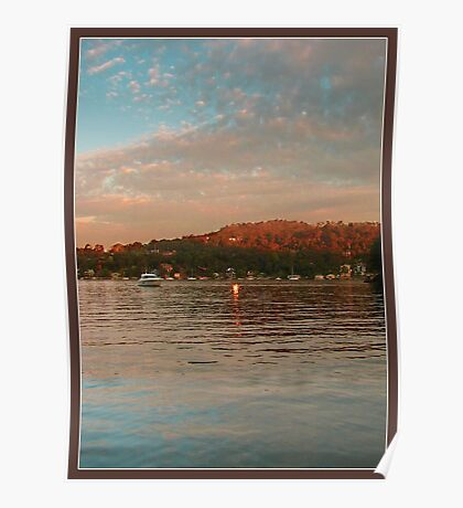 Cottage Point at sunset  Poster