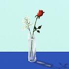 Single Rose by SophiaDeLuna