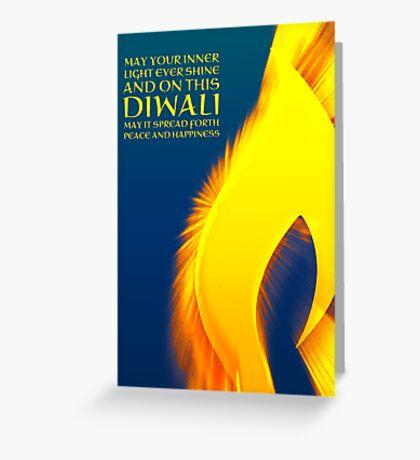 shining light diwali greetings  Greeting Card
