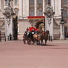 Prince Harry, Camilla & Kate leaving the palace for Trooping The Colour by Keith Larby