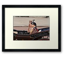 Prince Edward with his wife Sophie returning from Trooping The Colour Framed Print