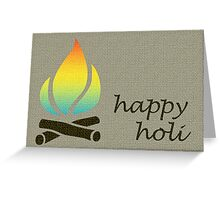 festival of color card Greeting Card