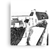 Hie Gait, the Town of Dysart, Fife... in Scotland Canvas Print