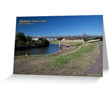 Belmore Bridge -Hunter River, Maitland Greeting Card