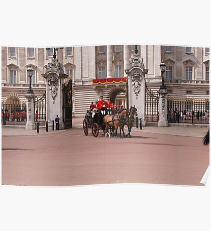 Prince Harry, Camilla & Kate leave the palace for Trooping The Colour Poster