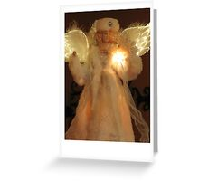 Christmas card with angel Greeting Card
