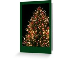 Christmas card with Christmas tree Greeting Card