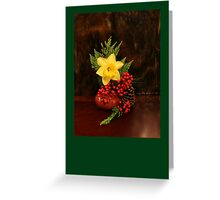 Christmas card with retro christmas scene Greeting Card