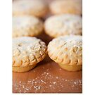 Christmas card with fruit mince pies by Cheryl Hall
