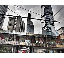 flower power in Central Hong Kong Photographic Print