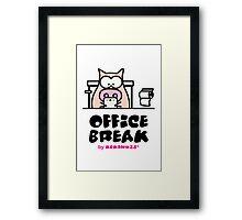 My Office Break - Toilet App Framed Print