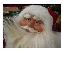 Christmas card with Santa Claus by Cheryl Hall