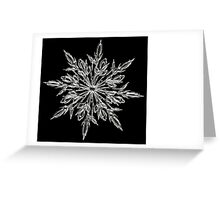 Christmas card with snowflake Greeting Card