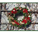 Christmas card with Christmas wreath by Cheryl Hall