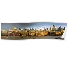 St Paul's and Thames panorama Poster