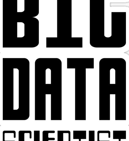BIG DATA SCIENTIST - Self-ironic Design for Data Scientists Sticker