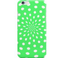 Polka dot explosion white on green  iPhone Case/Skin