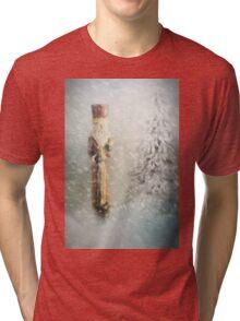 St Nicholas in the Snow Tri-blend T-Shirt